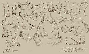 30 - 2min Feet Studies by charfade