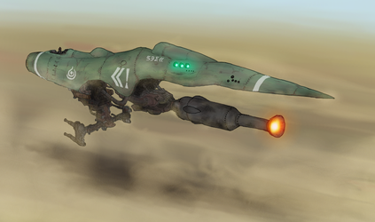 Low altitude fighter, Lania302 by AoiWaffle0608