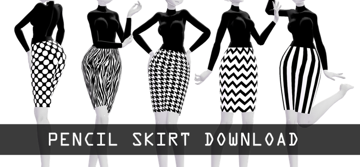 Pencil skirt download dl by HoshichoM