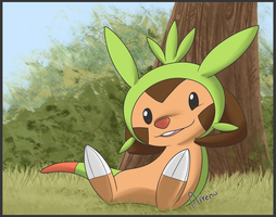 Chespin Chillin by Airenu-ish