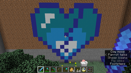 Minecraft Pixel Art - Cracked Ice Cold Heart by Blake290383