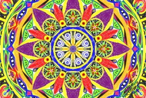 Mandala by BrainBlueArts