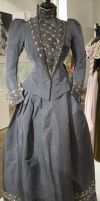 Grey Victorian Dress Stock by Avestra-Stock