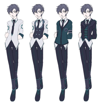Crowhaven Uniform Male (Freshman) by BananAdopt