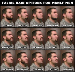 Facial Hair for Manly Men by jwcoffeeman