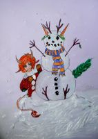 Silly Snowman Contest by chaosqueen122