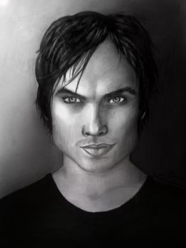 Damon Salvatore by daChelissius