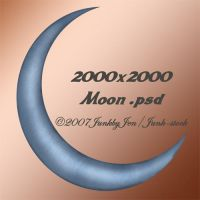 PSD Moon Stock by JunkbyJen