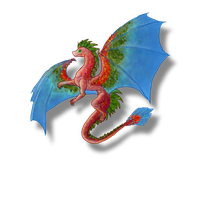 Scarlet Macaw Dragon by Ravenskysong