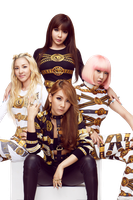 2NE1 PNG [Render] by GAJMEditions