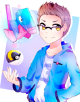 Porygon, I choose you! - Commission by Eiveon
