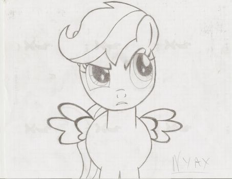 Scootaloo - Sketch by Nyax