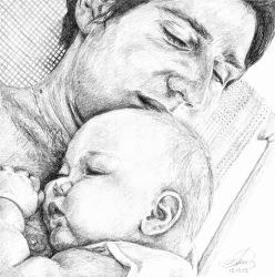 Father and Child by AnnaGilhespy