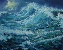 Sea oil paint by Boias