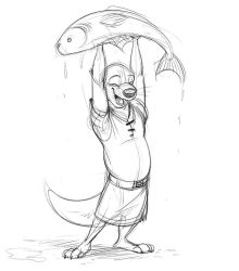 Otter Day Fish by Temiree