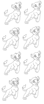 Lion King cub Lines by WolfAvenge