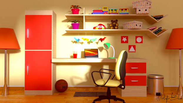 3D kids room by M-Ehab