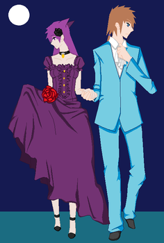Bree and Rio going to a dance. by shadowlightmaker