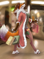 Christmas shopping - YCH for MegaLion1978 by Pixezure
