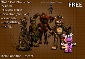 DarliciousDarl FNaF 6(C4D) Blender Port Download!! by GustavoBrazil