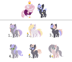 Prince x Lightmoon Adoptables: Open [1/6] by Skellyfied