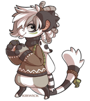 Ringtailed Lemur Kari (redesign) by Kirwick