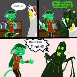 DK halloween pic - That's our Tendril! by zyronblade