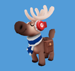 Jamming reindeer (Animated! With sound!!) by Henkkab