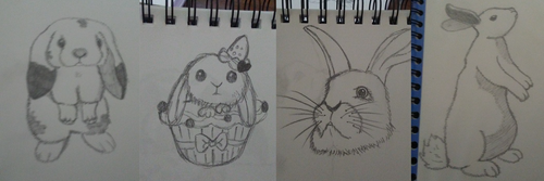 My Bunny Sketches by LadyofHeliodor