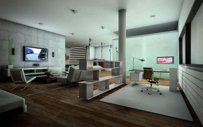 appartment_night by brown-eye-architects