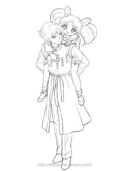 Commission:Helios and Chibiusa by starca