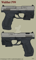 Walther P99 with Laser by Wolff60