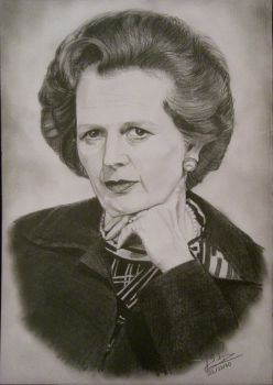 Margaret Thatcher by anymys-symyna
