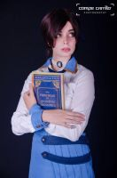 Elizabeth with book by ThelemaTherion
