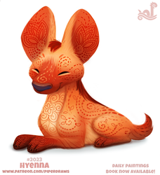 Daily Paint 2023# Hyenna by Cryptid-Creations