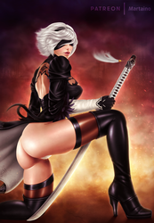 2B Nier: Automata .NSFW opt. by martaino