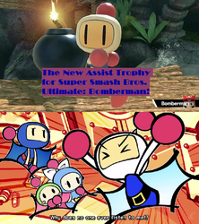 Bomberman's reaction for being a Assist Trophy. by Vincent-Rocchio