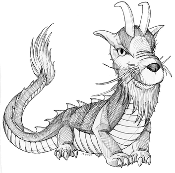 Inktober Day 19 - Dragon Lord by Hituro