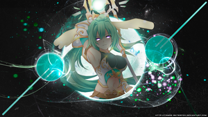 Green heart goddess by Tomoe-Waterfox