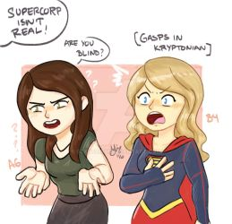 Supercorp isnt real .Supergirl by sexyfairy