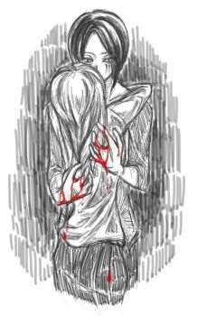 Blood-stained hands by Shocolad
