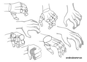Hand Tutorial 7 - Different Poses by anredera