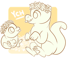 [YCH] Flower Crowns ~CLOSED by Chiki-nan