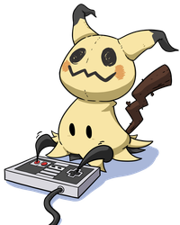 Mimikyu Playing NES by LateCustomer