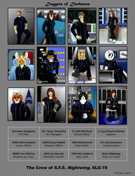 The Crew of SFS Nightwing SLG-78 by AncientWolf-1959