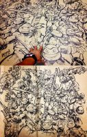 Teenage Mutant Ninja Turtles Sharpie Freestyle by EnricoManiago