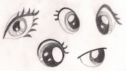How to Sketch Eyes on My Little Pony Characters by artwork-tee