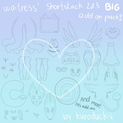 BIG Shortstack ADD ON PACK by kuroducky