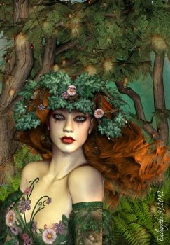 Forest Nymph by FaerieDanse