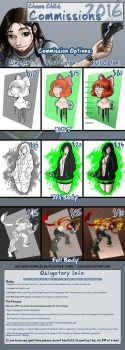 2016 Commissions are Open! by Chaos--Child